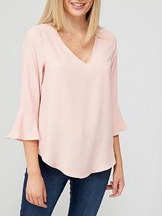 v-by-very-value-frill-round-neck-shell-top-pinknbsp