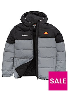 ellesse-boys-razio-junior-padded-jacket-silver