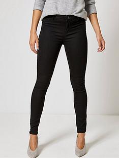 dorothy-perkins-short-length-frankie-jeans-black