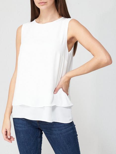 v-by-very-double-layer-split-back-vest-ivory