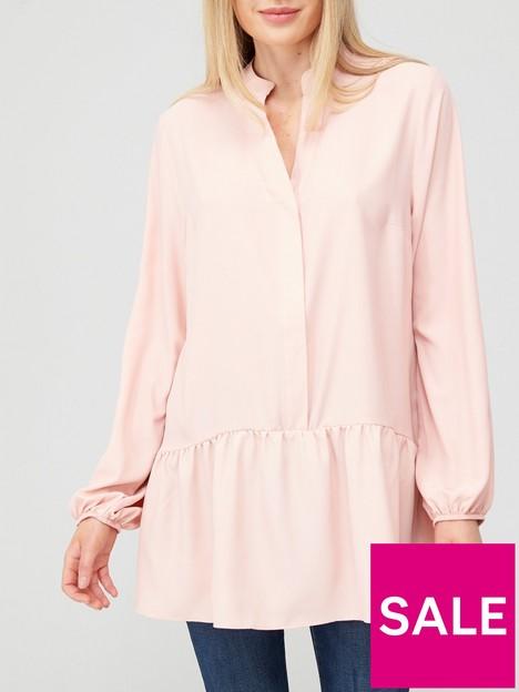v-by-very-longline-notch-neck-peplum-blouse-blushnbsp