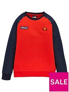 ellesse-ellesse-boys-zapha-junior-sweatshirt-red
