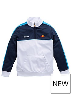 ellesse-juniornbspboys-trebiya-12-zip-track-top-navy