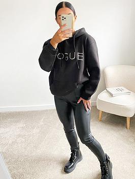 ax-paris-slogan-hoodie-black