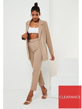 missguided-missguided-co-ord-longline-blazer-stone