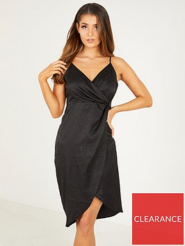 quiz-satin-v-neck-wrap-skirt-strappy-midi-dress-black