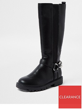 river-island-girls-chunky-chain-knee-high-boot-black
