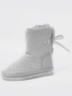 river-island-girls-monogram-faux-fur-boot--nbspgrey