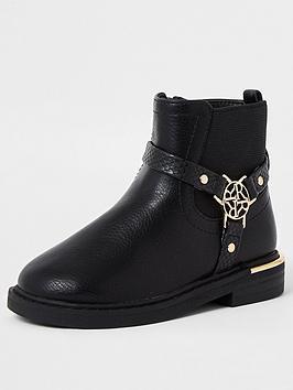 river-island-mini-mini-girls-harness-boot-black