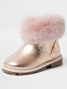 river-island-mini-girls-faux-fur-trim-boots-pink