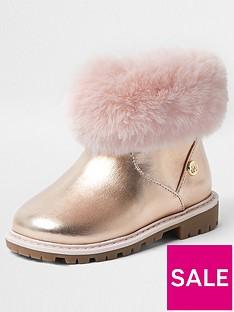 river-island-mini-girls-faux-fur-trim-boots-pink