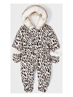 river-island-mini-baby-girls-leopard-print-snow-suit--nbspbrown