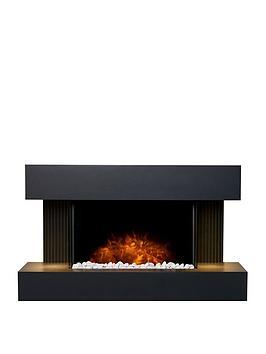Adam Fires & Fireplaces Adam Manola Wall Hung Electric Fireplace Suite - Grey