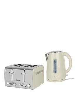 Swan Kettle And 4-Slice Toaster Pack - Cream