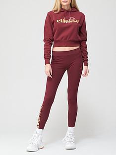 ellesse-heritage-tonnar-legging-and-hoodie-set-burgundy