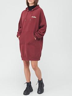 ellesse-heritage-bellize-sweat-dress-burgundy