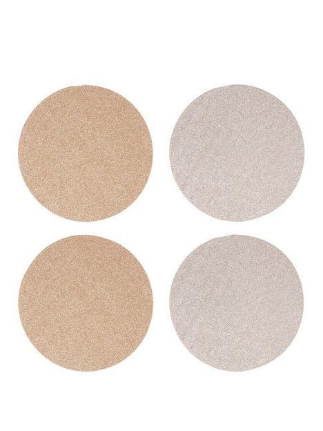 premier-housewares-round-glitter-set-of-4-placemats