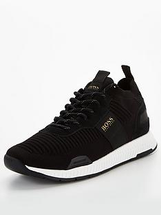 boss-titanium-knit-runner-trainers-black-gold