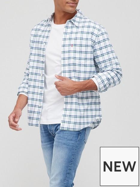 levis-classic-long-sleeve-stripe-shirt-green