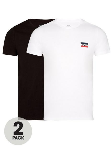 levis-2-pack-sports-logo-t-shirt-whiteblack