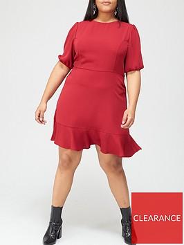 v-by-very-curve-flippy-hem-mini-dress-red