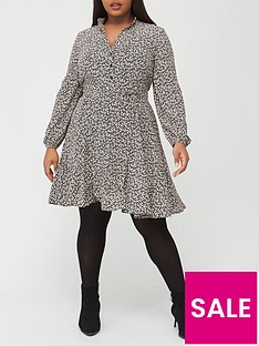 v-by-very-curve-printed-shirt-dress-ditsy-print