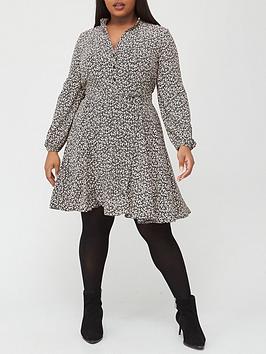 v-by-very-curve-printed-shirt-dress-ditsy-print