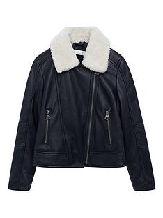 mango-girls-faux-fur-collar-biker-jacket-black