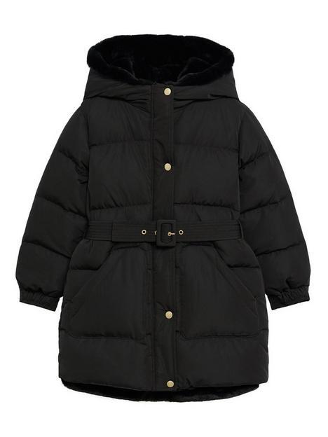 mango-girls-belted-padded-coat-black