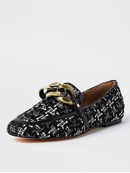 river-island-oversized-chain-printed-loafer-black