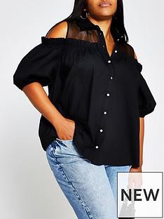 ri-plus-cold-shoulder-shirt-black