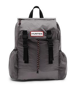 hunter-original-ripstop-packable-backpack-grey