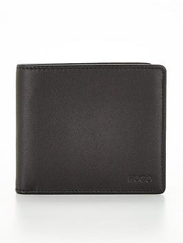Hugo Subway Leather Billfold Wallet With Coin Pocket - Black