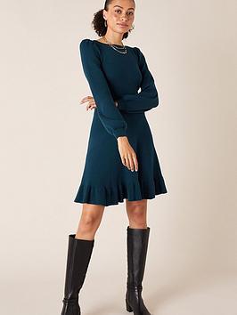monsoon-peplum-hem-knitted-dress-teal