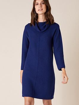 monsoon-cali-cowl-neck-knitted-dress-blue