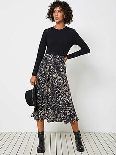 mint-velvet-faye-animal-print-jersey-mix-dress-neutral