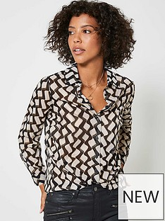 mint-velvet-gianna-foil-print-blouse-black