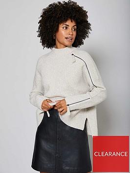 mint-velvet-zip-detail-metallic-chunky-knit-neutral