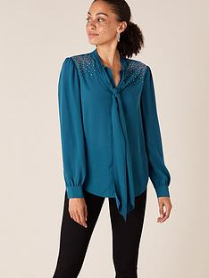 monsoon-holly-heatseal-pussybow-blouse-teal