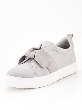 office-fixing-bow-slip-on-plimsoll-grey