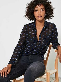 mint-velvet-elena-print-blouse-black
