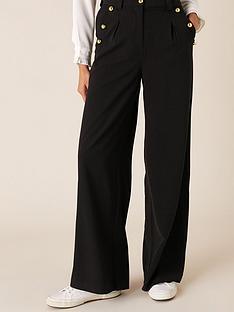 monsoon-monsoon-military-wide-leg-trouser-black