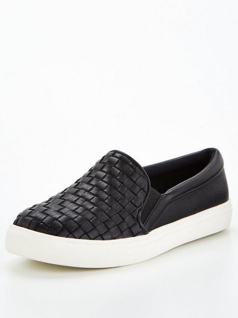 v-by-very-weave-slip-on-trainer-black