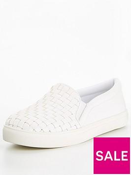 v-by-very-weave-slip-on-trainer-white