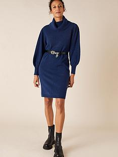 monsoon-roll-neck-knitted-dress-dark-blue