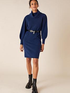 monsoon-roll-neck-knitted-dress-dark-blue