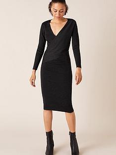 monsoon-lurex-wrap-knitted-dress-black