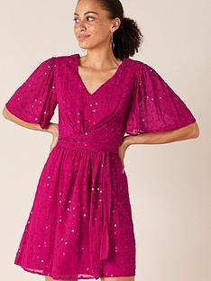 monsoon-peyton-sequin-short-dress-pink