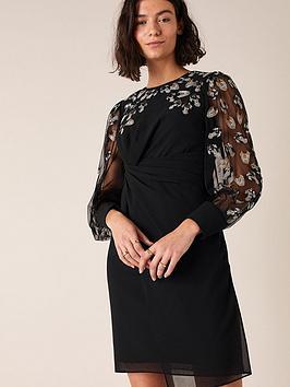 monsoon-felicia-feather-embellishednbspshort-dress-black