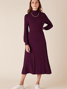 monsoon-sustainablenbsproll-neck-dress-berry